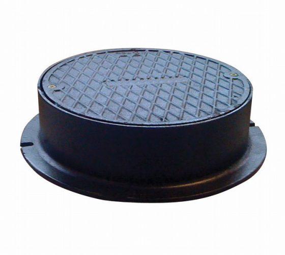 Støbejerns dæksel og rund karm . 315 mm