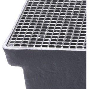 Gitterriste til Sokkelaffugter (stål) - 11 x 11 x 25 mm