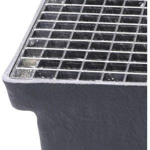 Gitterriste til Sokkelaffugter (stål) - 22 x 22 x 25 mm