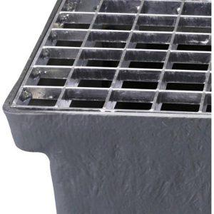 Gitterriste til Sokkelaffugter (stål) - 33 x 33 x 25 mm