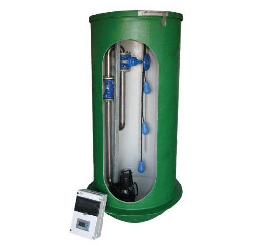 Spildevandsumpestation SP1250 - 2 x SLV.80.80.15