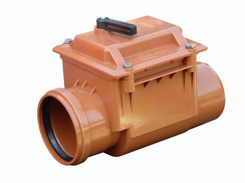 Højvandslukker med 1 klap 110 mm