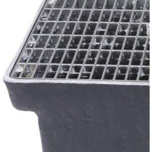 Lamelriste til Sokkelaffugter (stål) - 22 x 11 x 25 mm