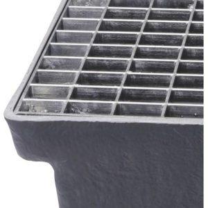 Lamelriste til Sokkelaffugter (stål) - 33 x 11 x 25 mm