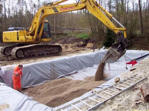 Biologisk sandfilter under etablering