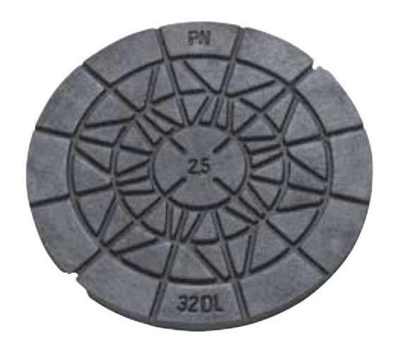 Rund let dæksel SP-PN 32 DL 2,5T . 315 mm