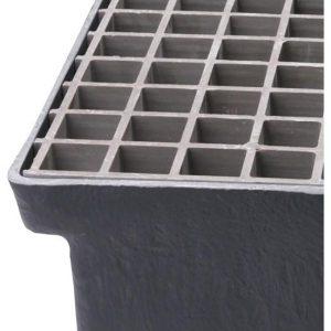 Gitterriste til Sokkelaffugter (GAP) - 38 x 38 x 25 mm
