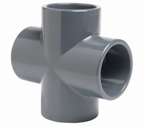 PVC Kryds 90°