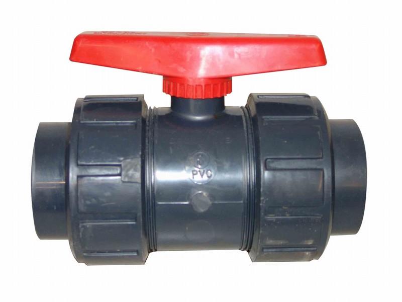 PVC Kuglehaner med dobbelt union