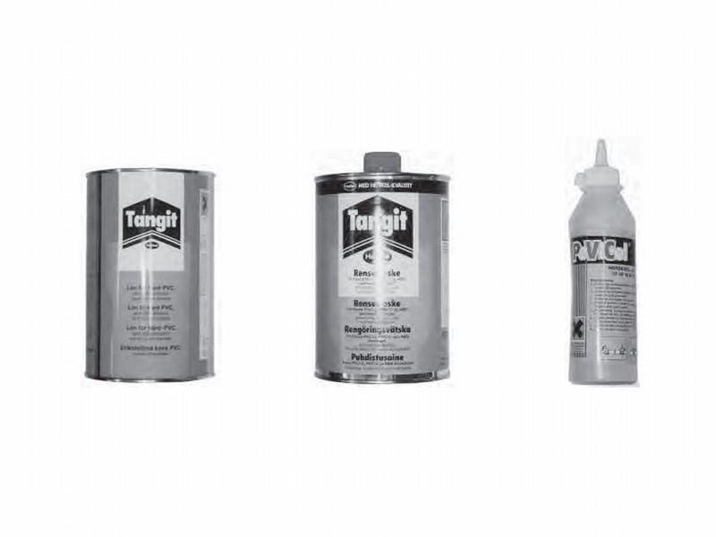 Lim til limerør, fittings og ventiler