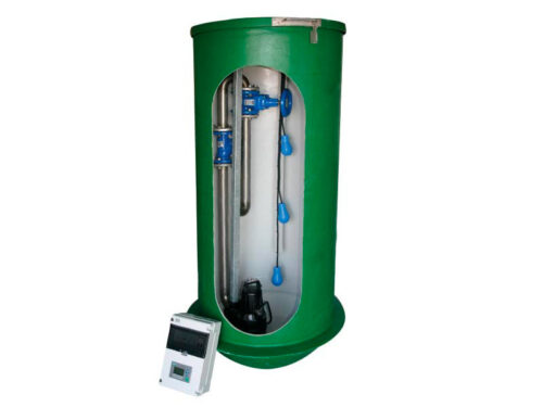 Pumpestation med grundfos pumpe