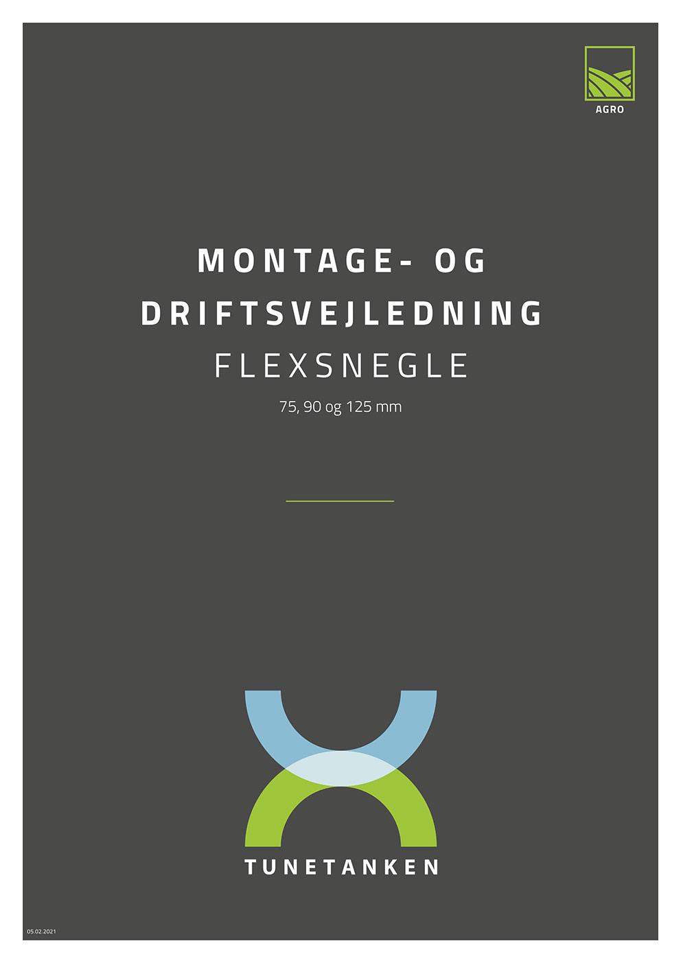 Montage- og driftsvejledning - Flexsnegle
