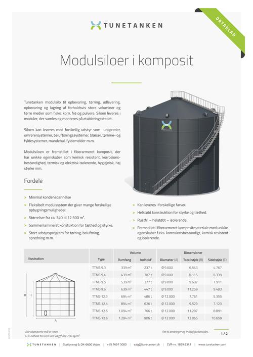 Modulsiloer - Datablad
