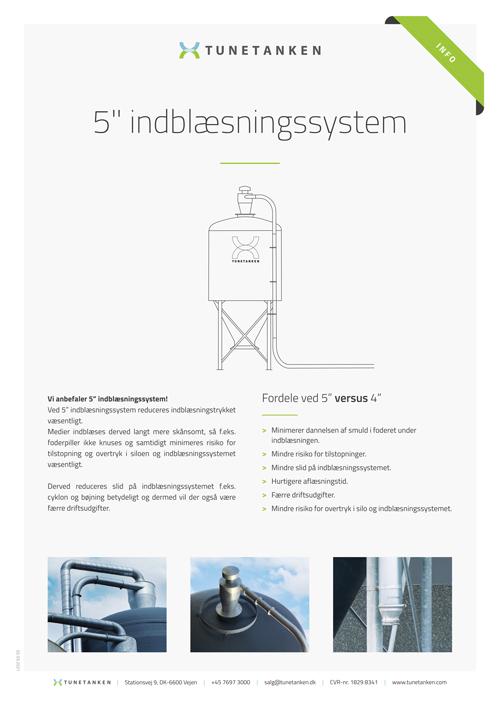 5 tommer indblæsningssystem - Infoark