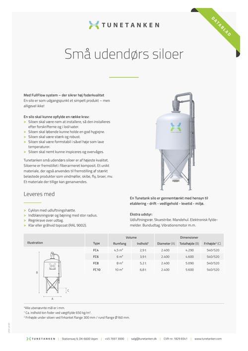 Små udendørs siloer - Datablad