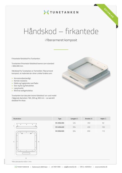 Håndskod - firkantede